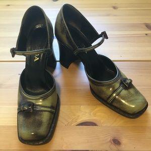 Vintage Prada Buckle Pump Heel Clogs